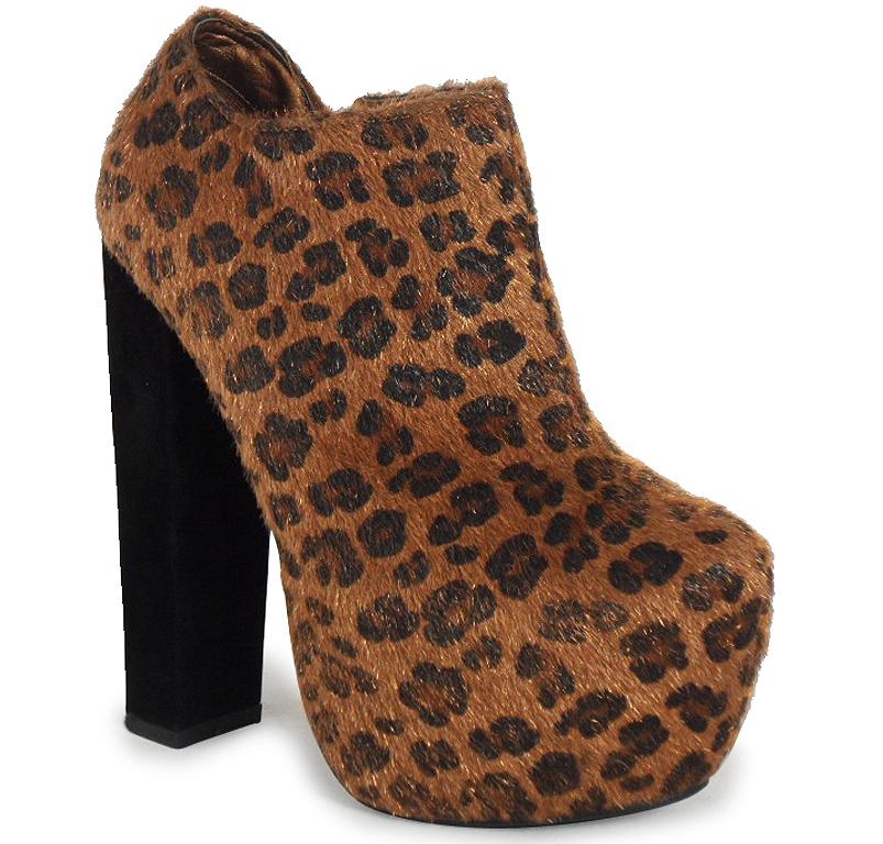 womens cheetah concealed high platform block high